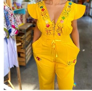 Beautiful Mexican embroided jumpsuit